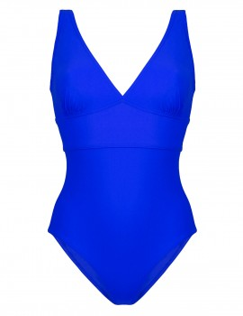 The blue swimsuit