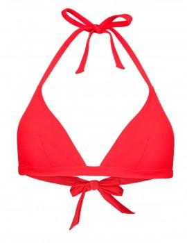 The red triangle bikini top