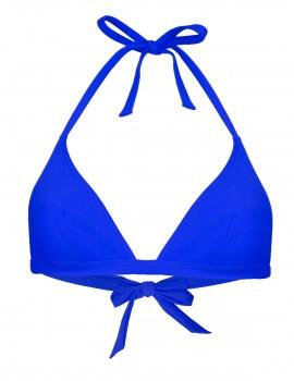 The blue triangle bikini top