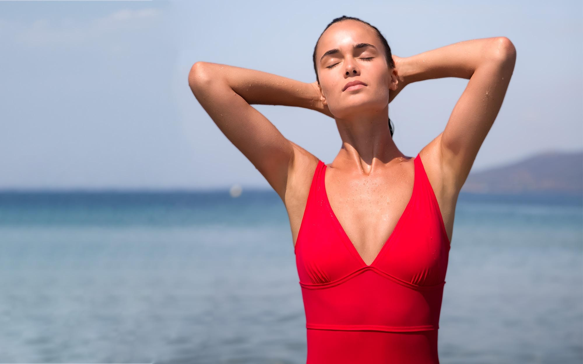 The red swimsuit