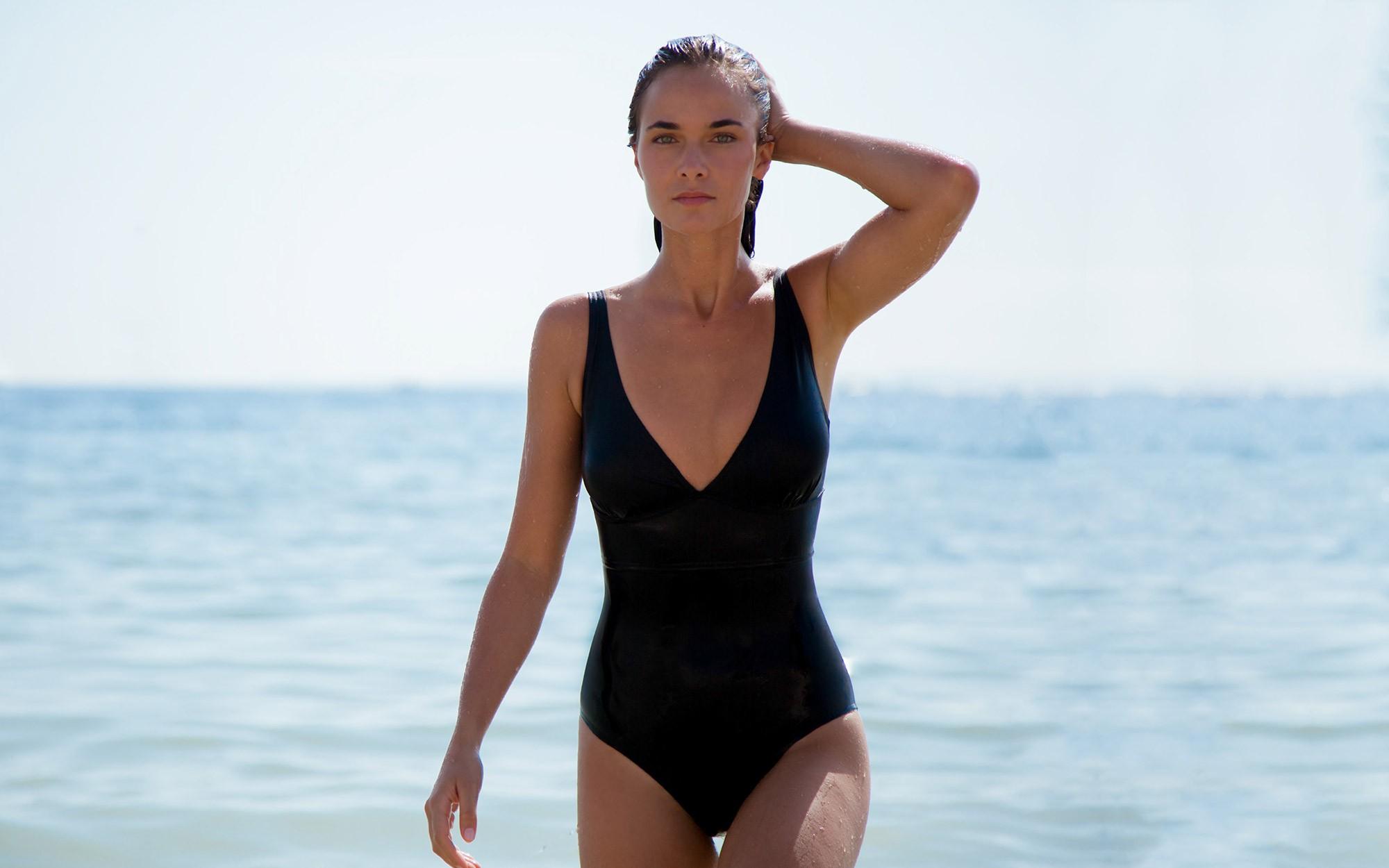 The black swimsuit